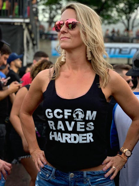 GCFAM RAVES HARDER WOMENS TANK
