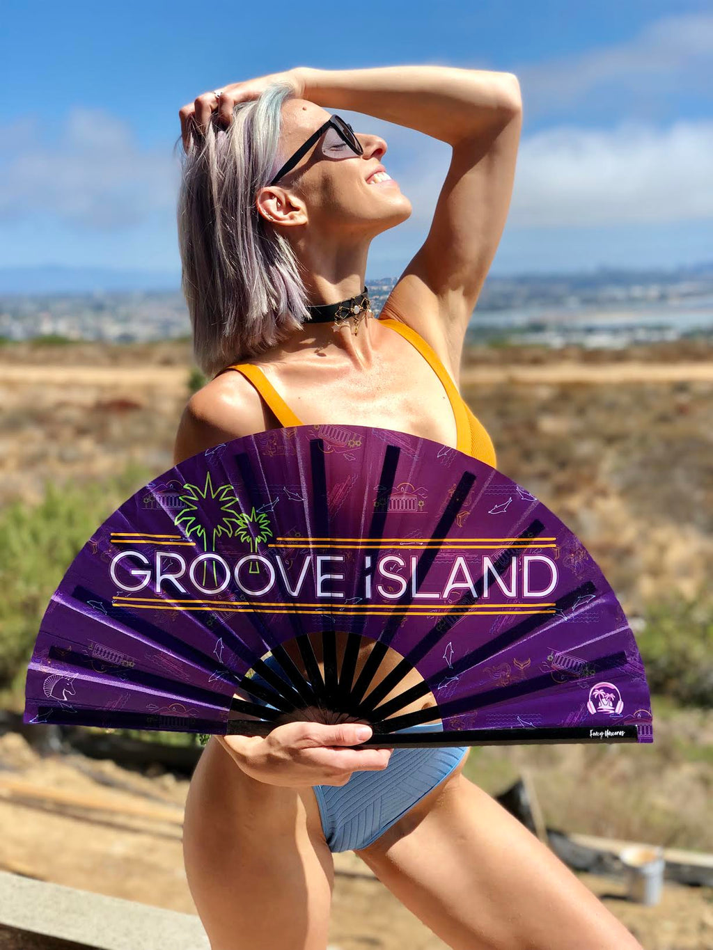 Groove Island Bamboo Fan - EVENT PRESELL ONLY