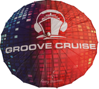 Groove Cruise Black Disco Parasol