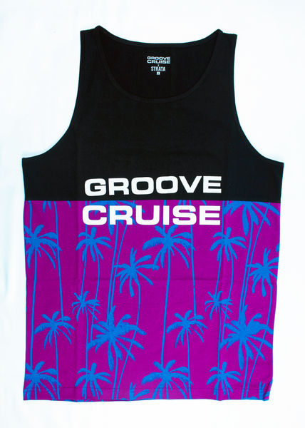 Mens - Groove Cruise Two-Tone, Royal Purple Tank
