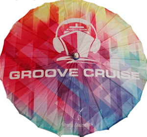 Groove Cruise Colorful Mosaic Parasol