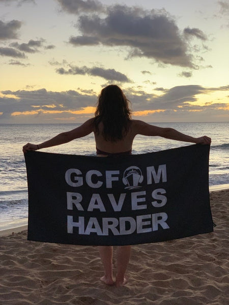 GCFAM RAVES HARDER FLAG