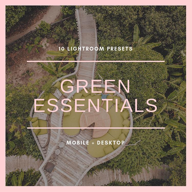Green Essentials (mobile + desktop)