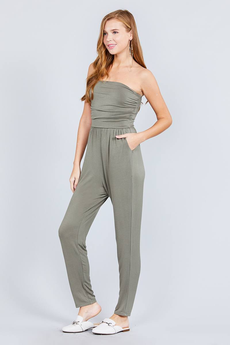 Cute Tube Top & Jumpsuit Combo