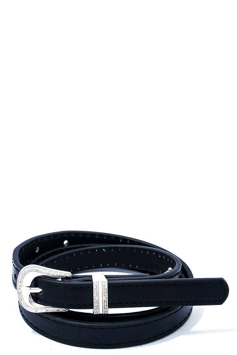 Black Chic Skinny Western Belt