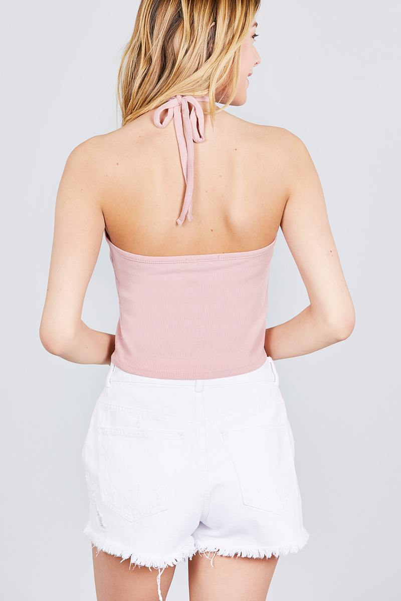 Halter Flow Crop Top