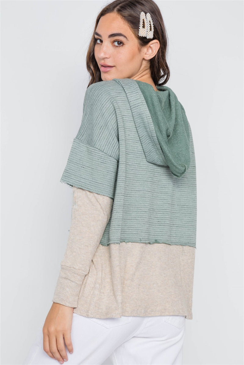 Dark Sage Hooded Sweater