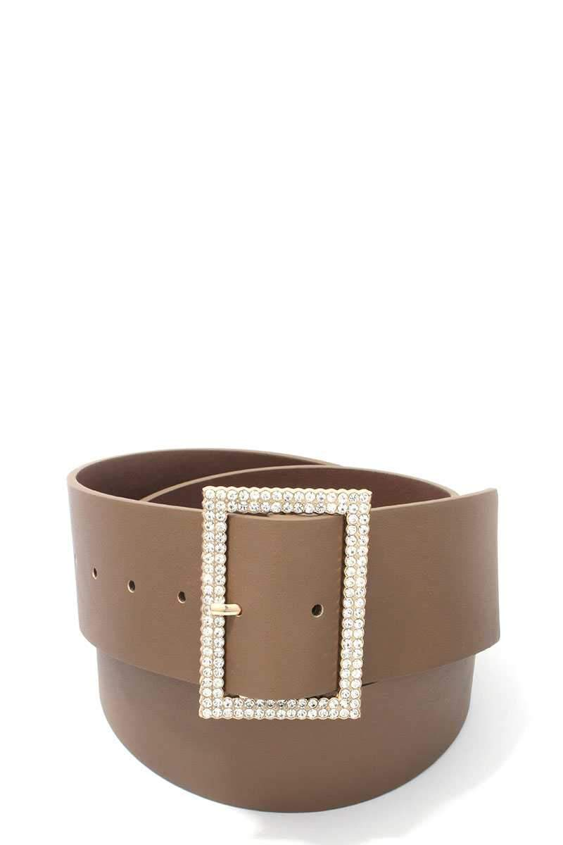 Khaki Chic Pearly Belt