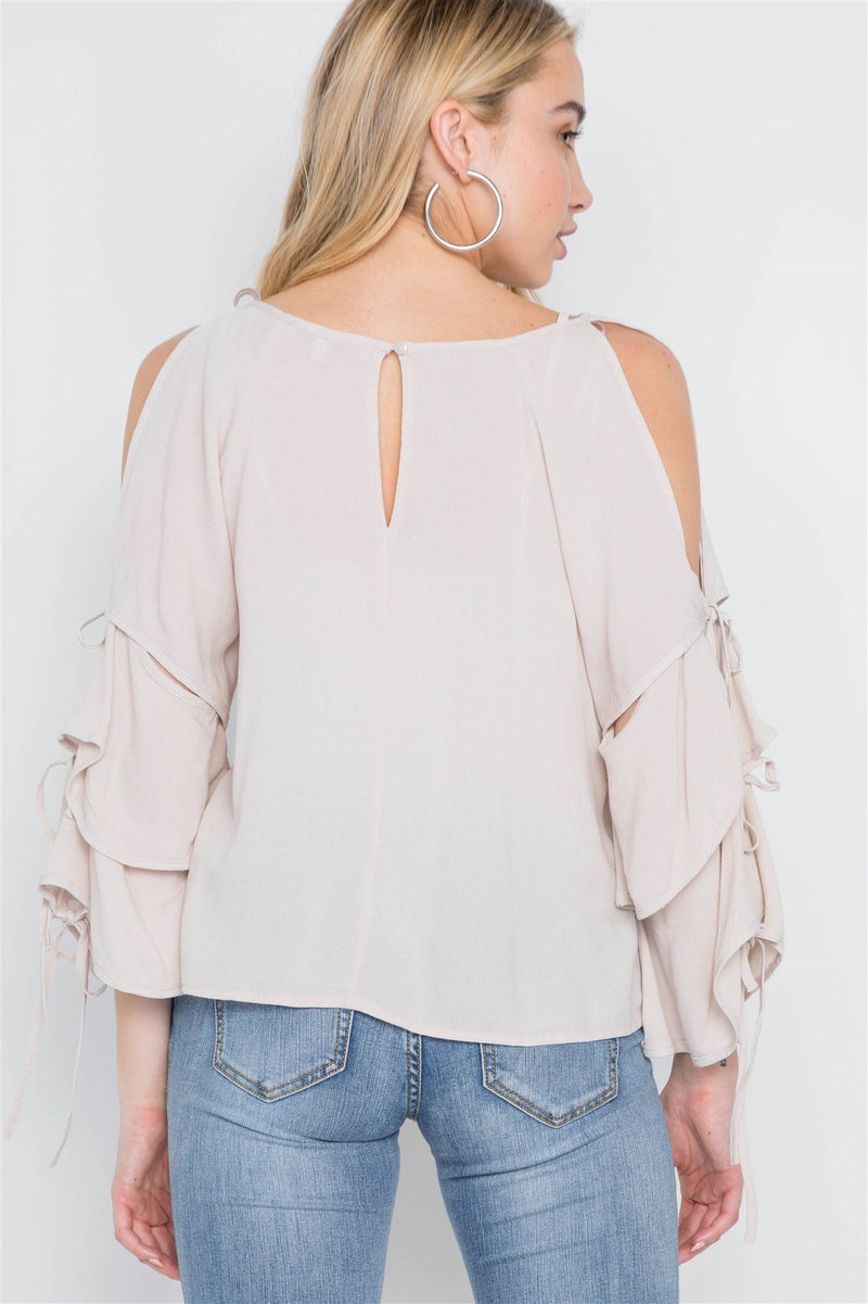 Vintage Jams Self-tie Sleeve Top