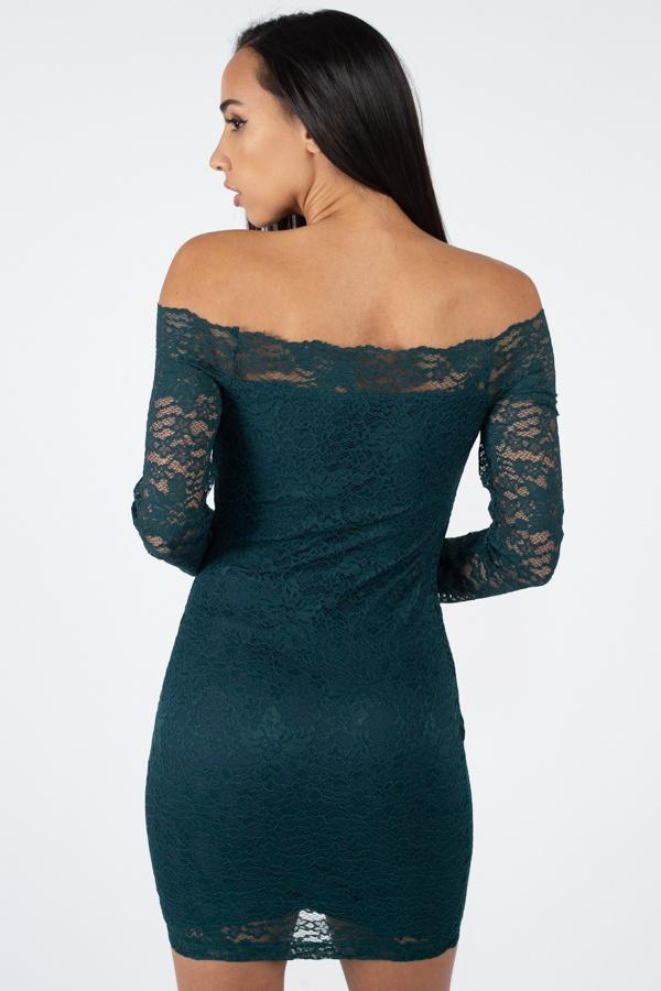 Floral Lace Off Shoulder Dress