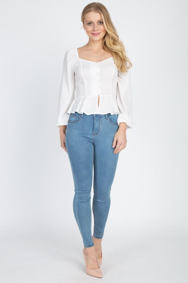 XS High Rise Denim Jeans