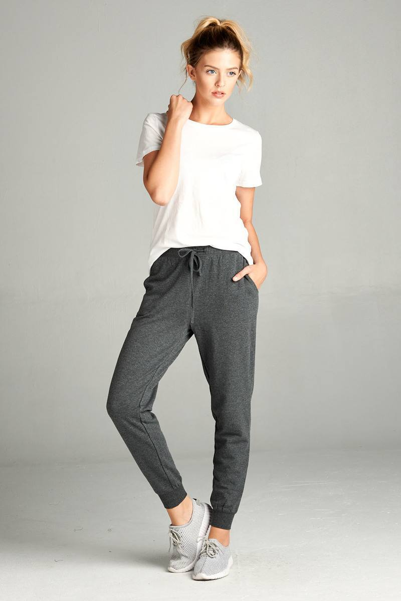 Charcoal Grey / S French Women's Terry Joggers