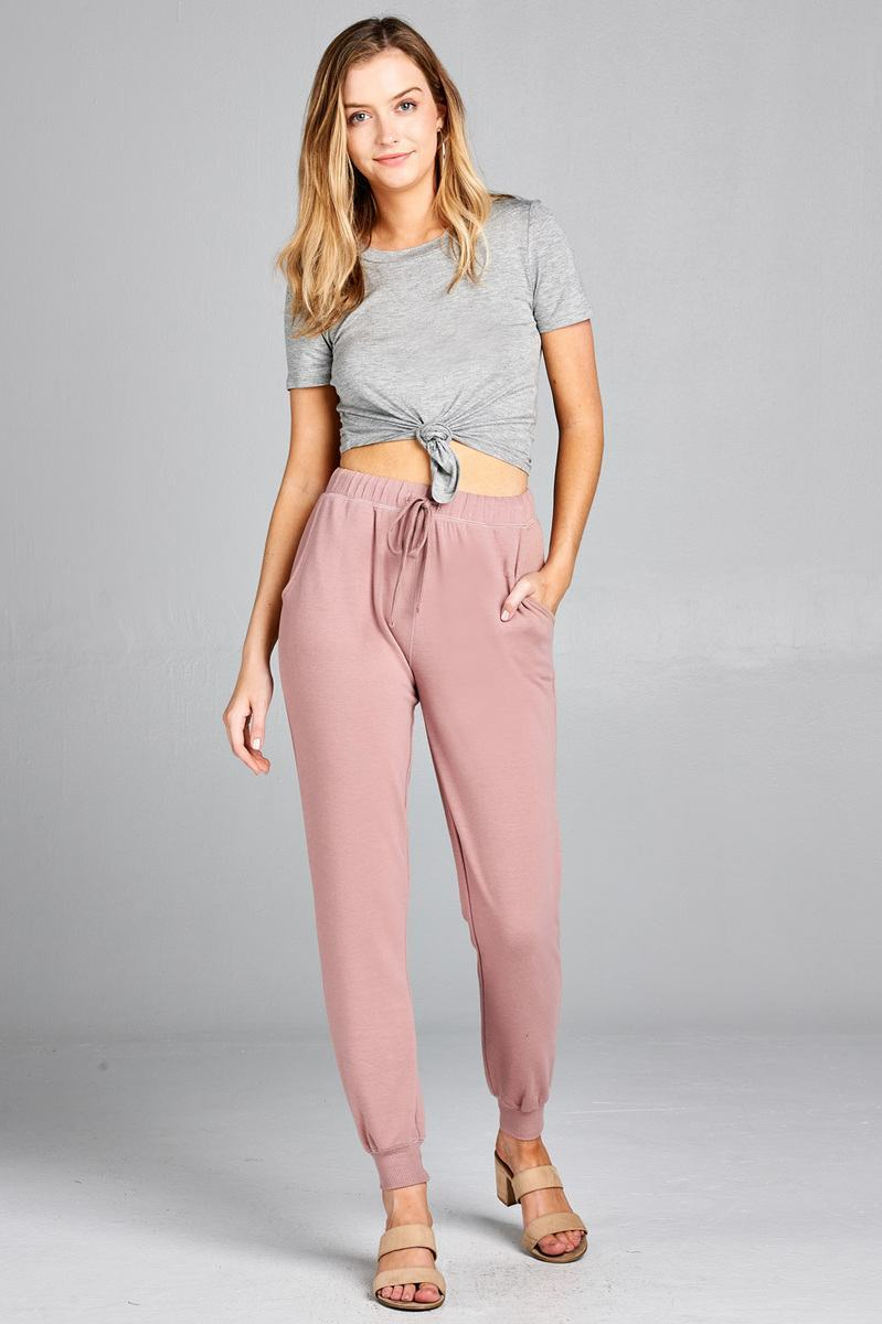 Mauve / S French Women's Terry Joggers