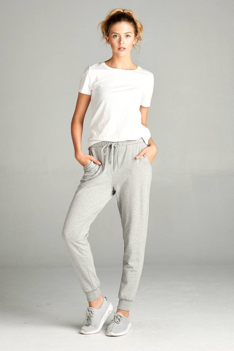 Heather Grey / S French Women's Terry Joggers