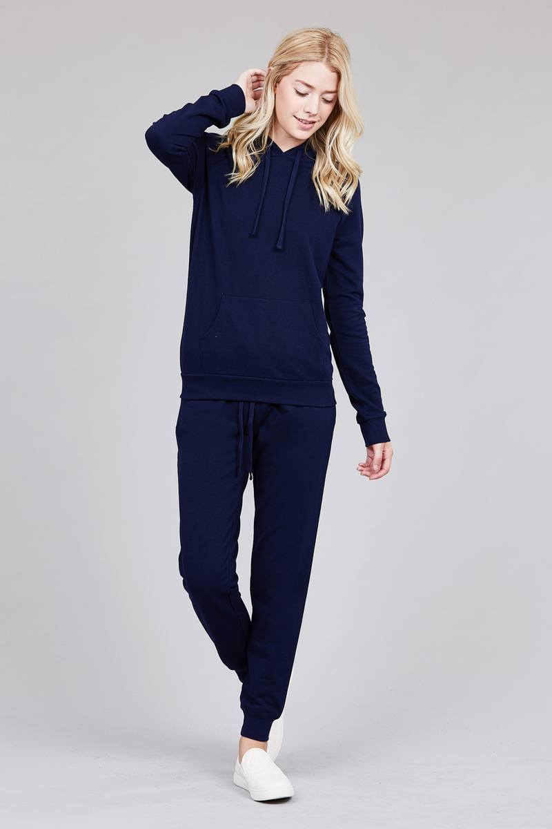 Navy / S French Women's Terry Joggers