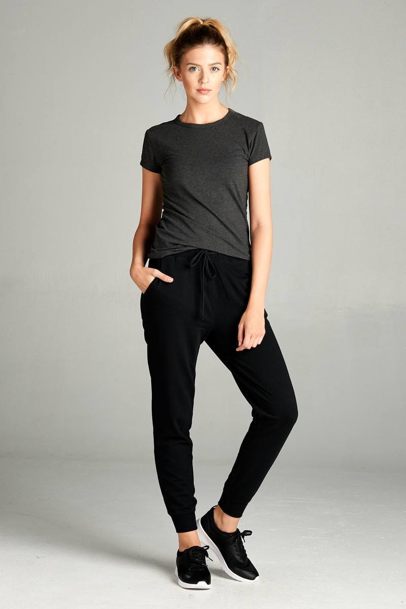 Black / S French Women's Terry Joggers