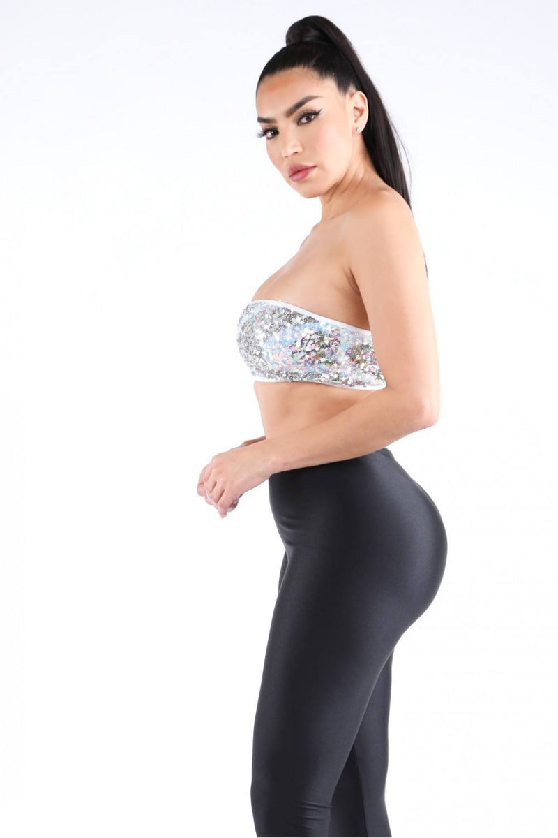Shinning Desire Sequin Tube Top