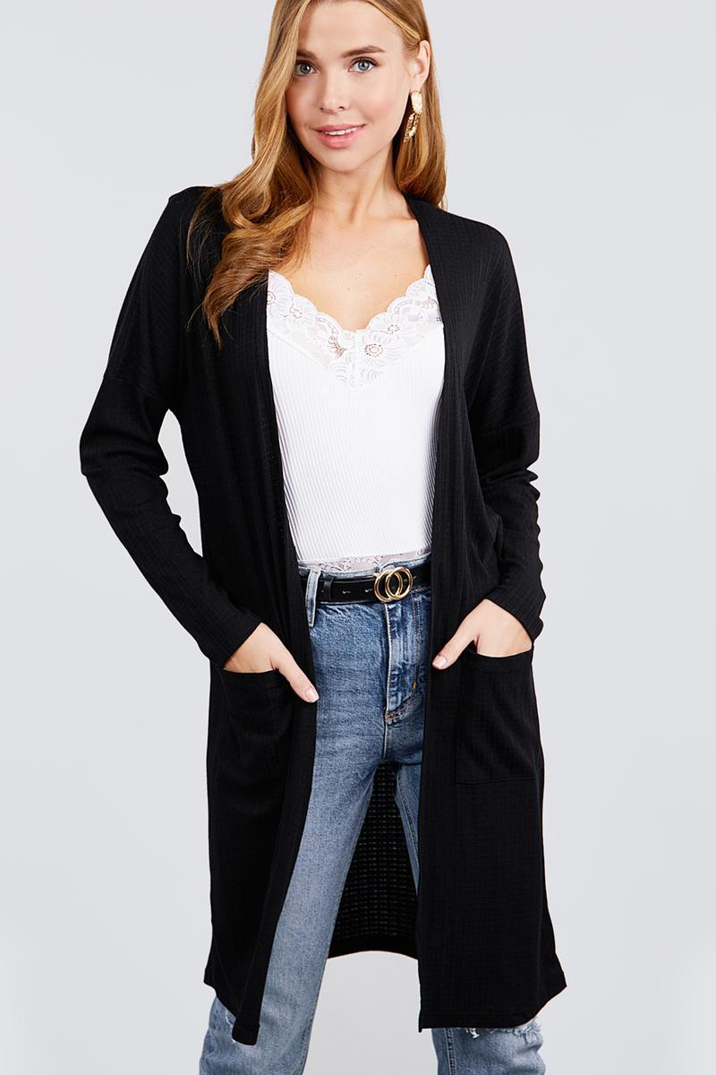 Black / S Sweet Sugar Pointelle Cardigan