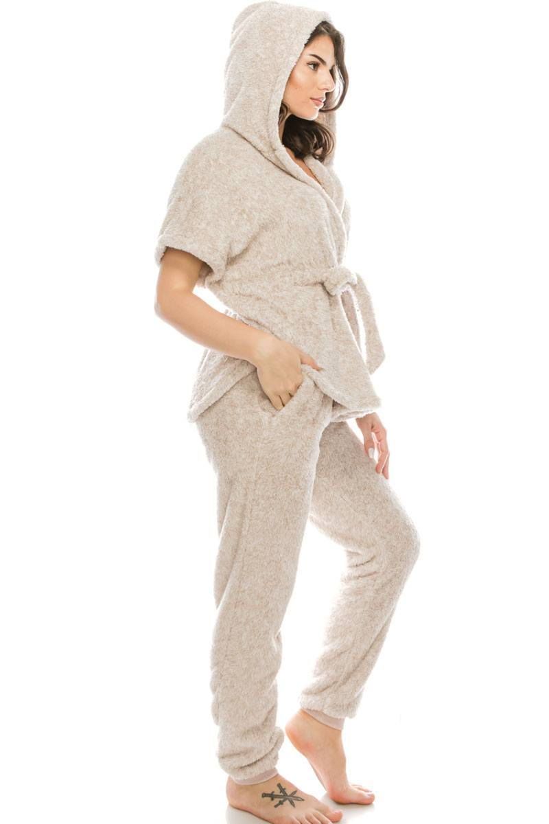 Fluffy 2 Piece Pj's Set