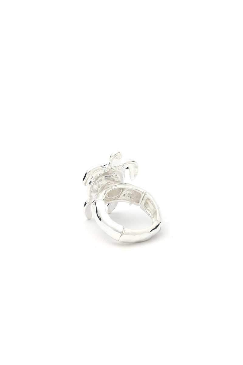 Silver Abalone Sea Turtle Stretch Ring