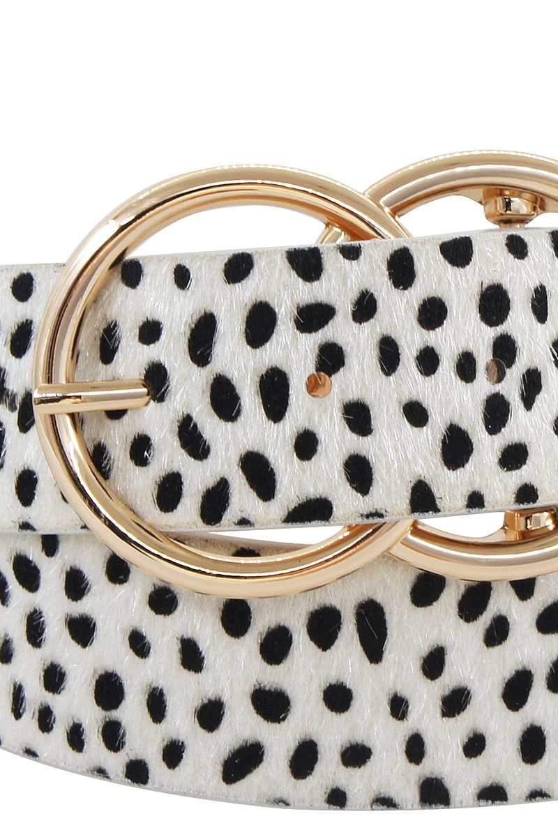 Double Dip Leopard Belt