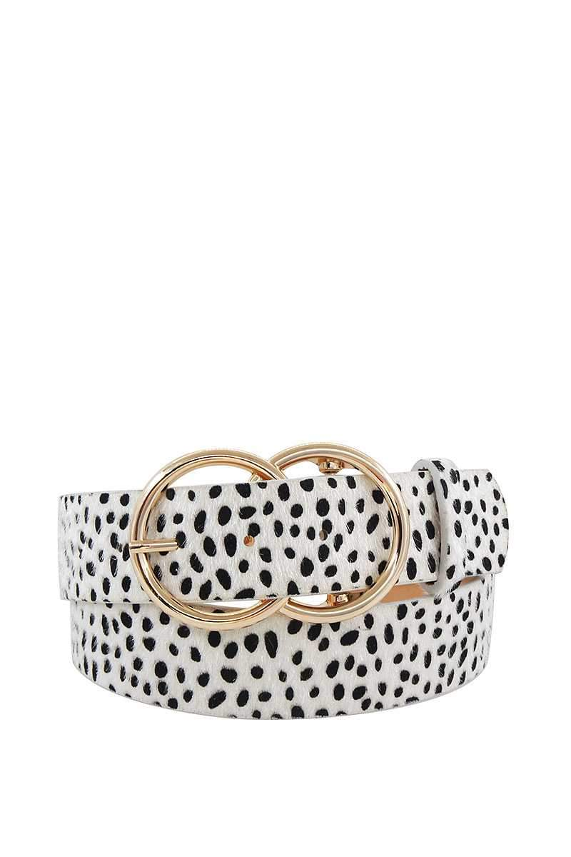 Ivory Double Dip Leopard Belt