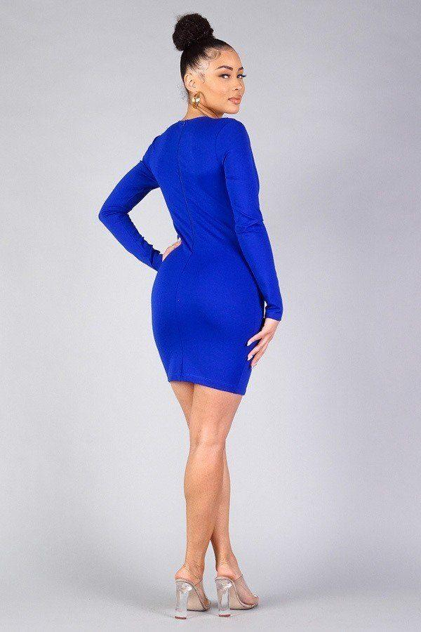 Sexy Long Sleeve Bodycon Mini Dress