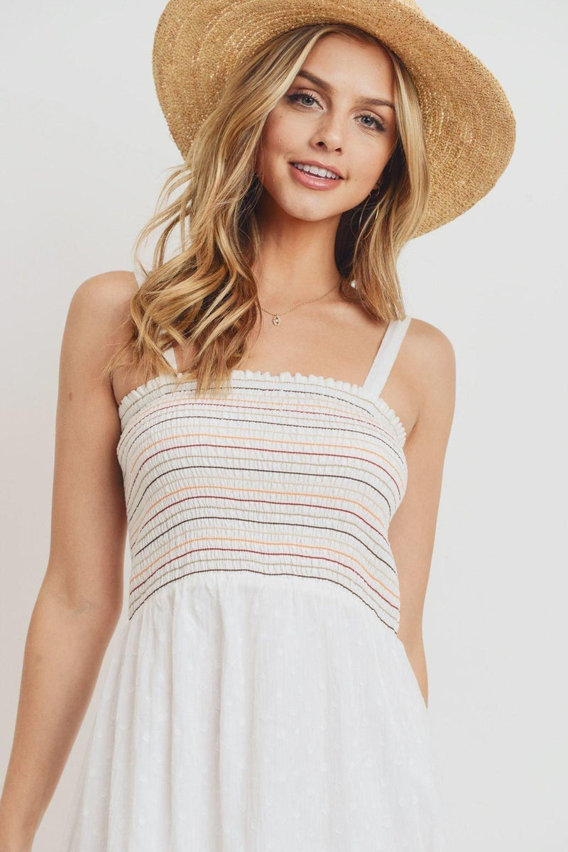 Striped Ruffle Dress
