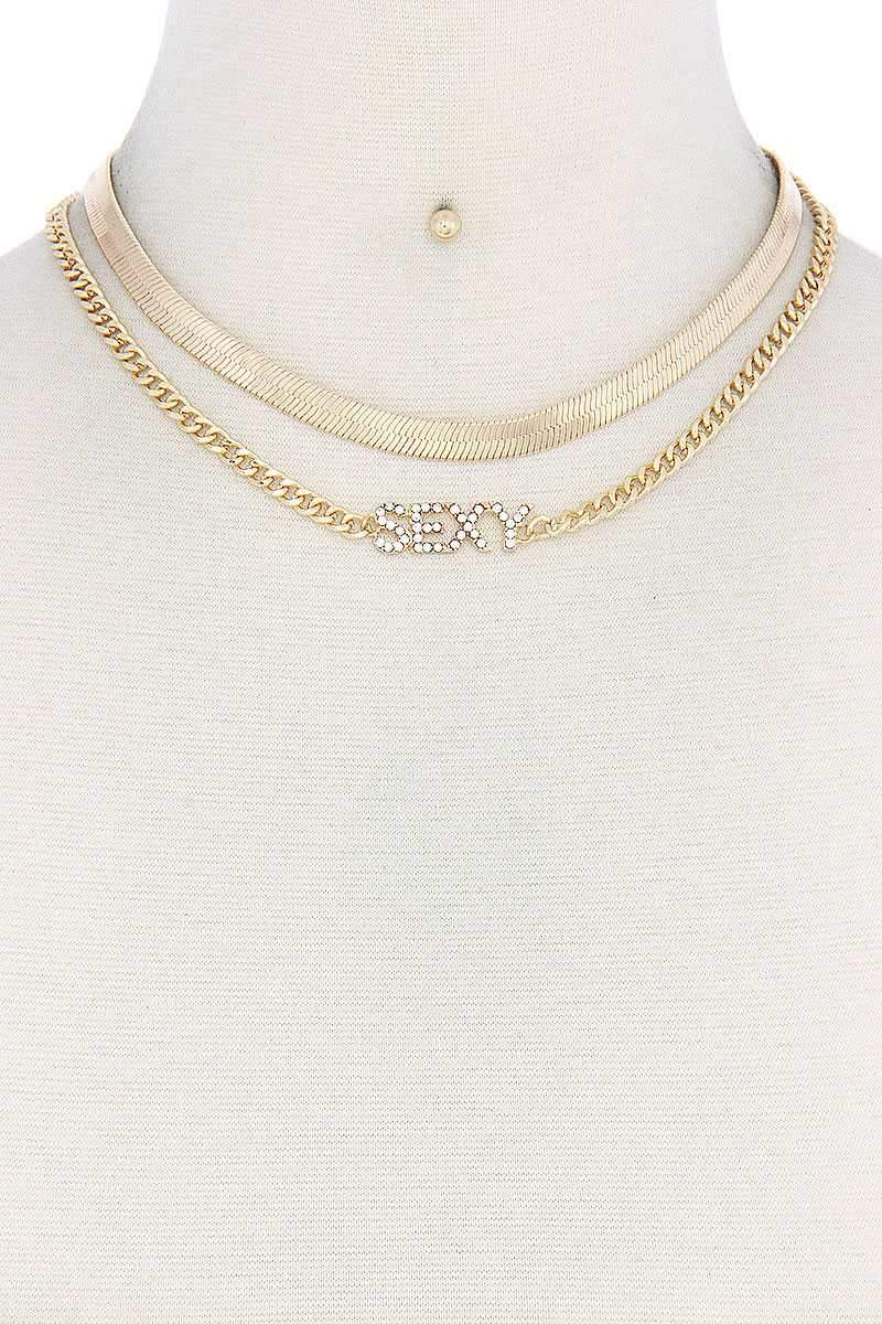 Gold Sexy Flat Snake Chain Necklace