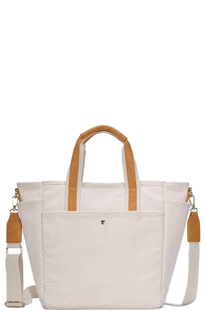 Mustard 2in1 Canvas Fabric Satchel