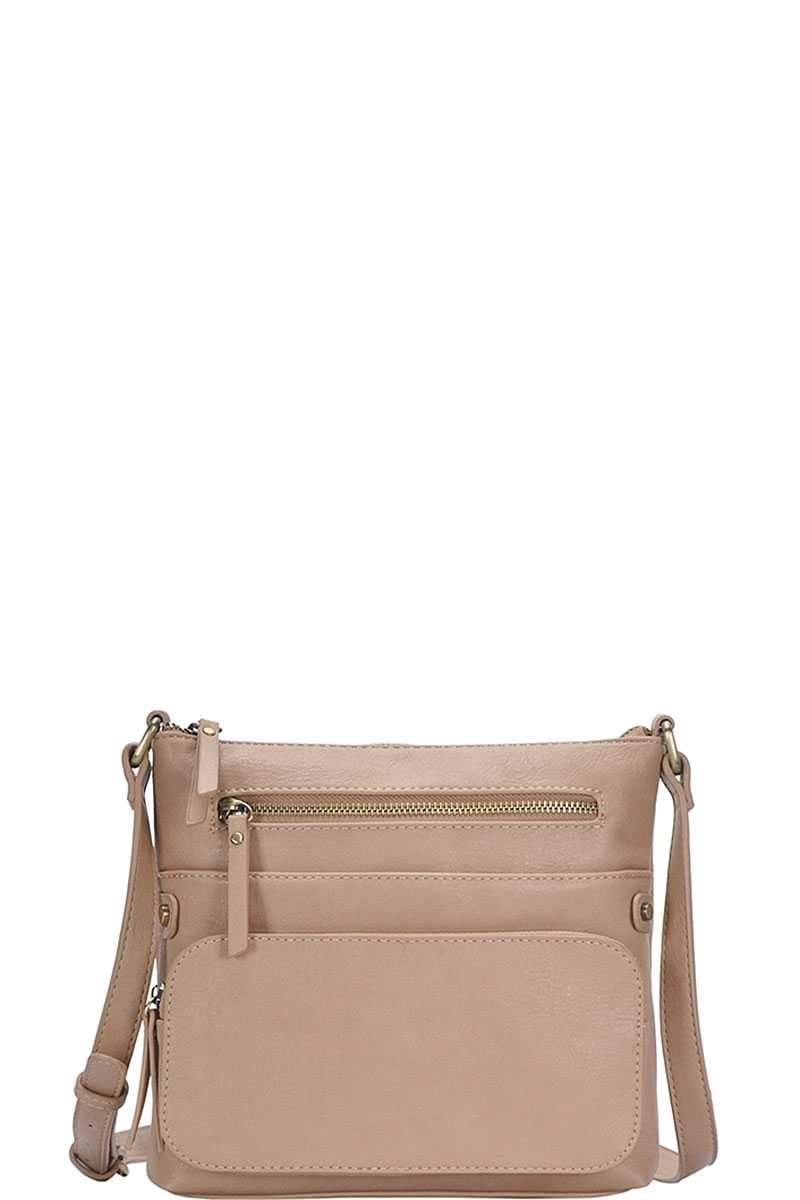 Beige Fashion Chic Modern Crossbody Bag