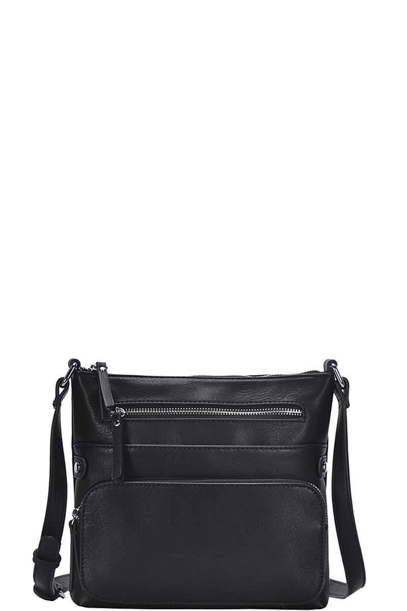 Black Fashion Chic Modern Crossbody Bag