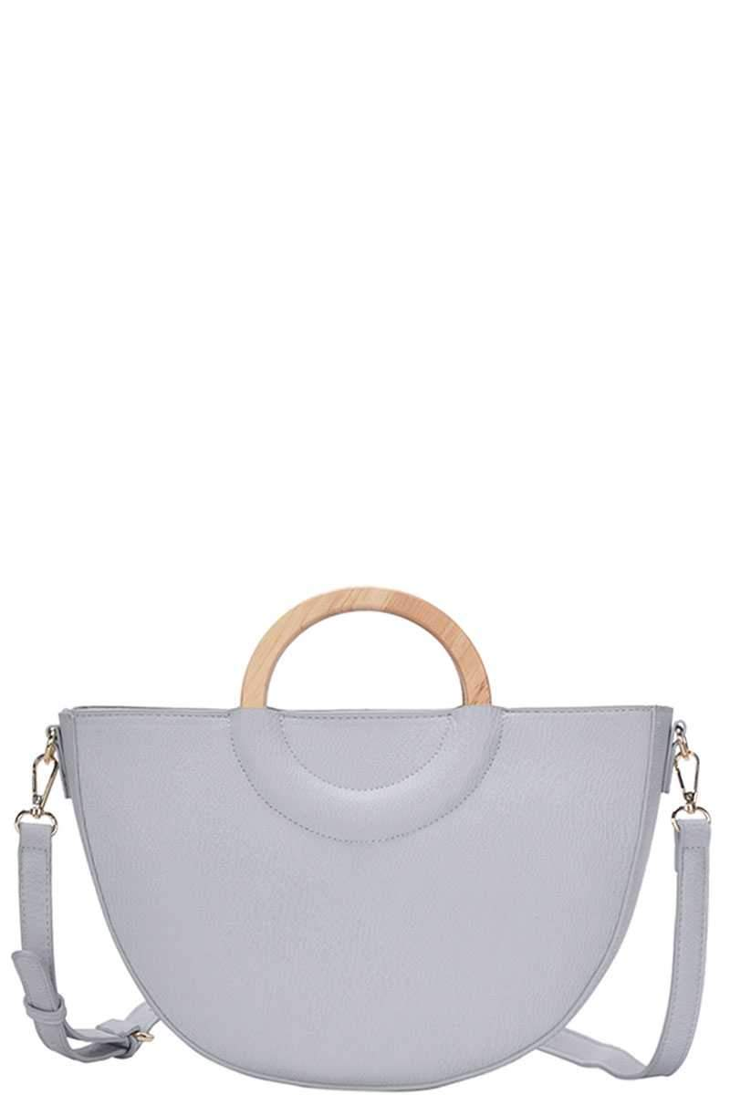 Blue Stylish Semi Circle Modern Satchel