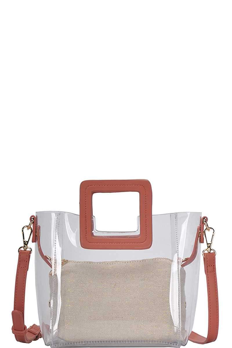 Coral 2in1 Transparent Satchel