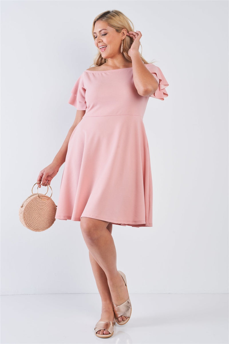 Off The Shoulder Tiered Midi Dress