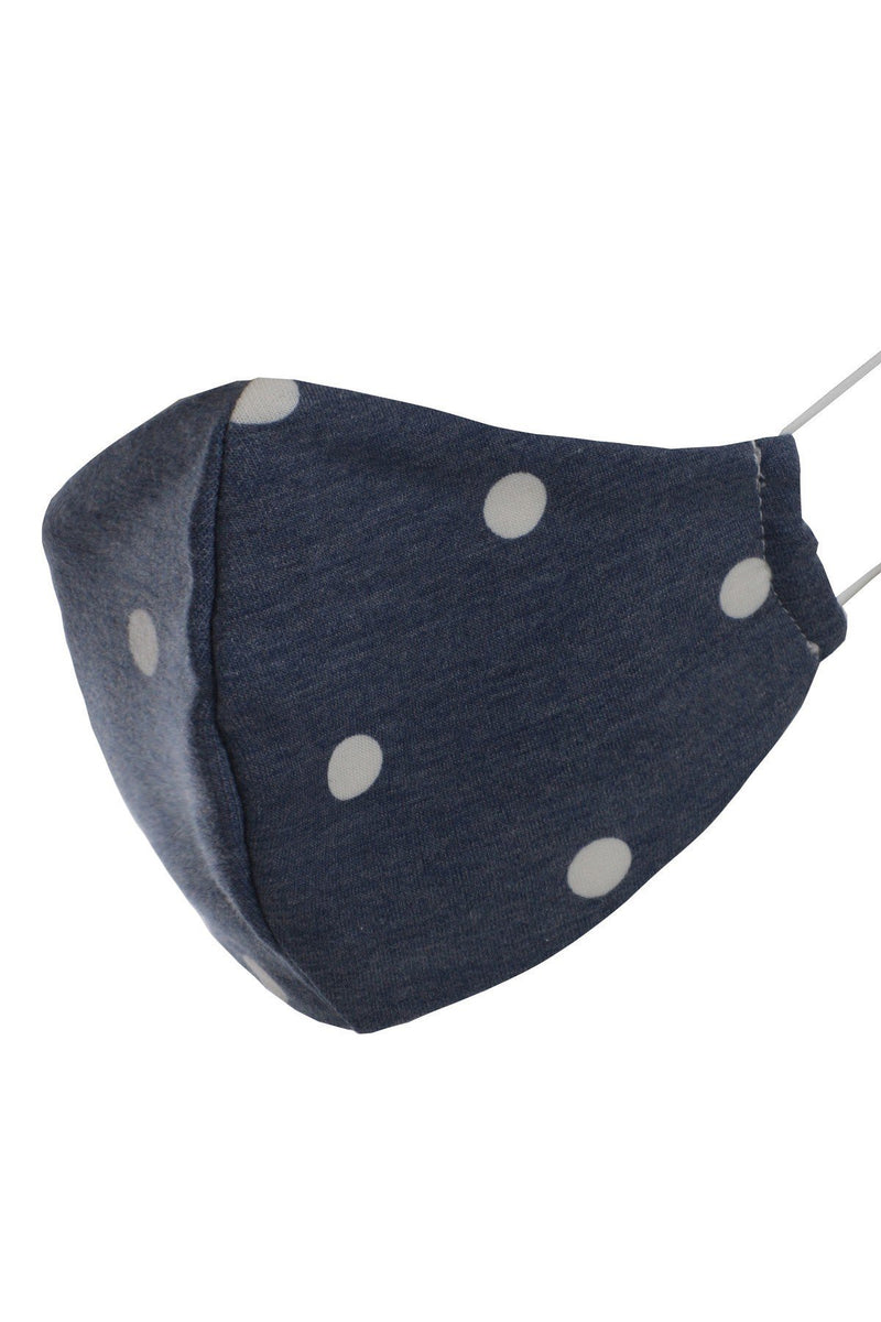 Denim Polka Dot Reusable Face Mask