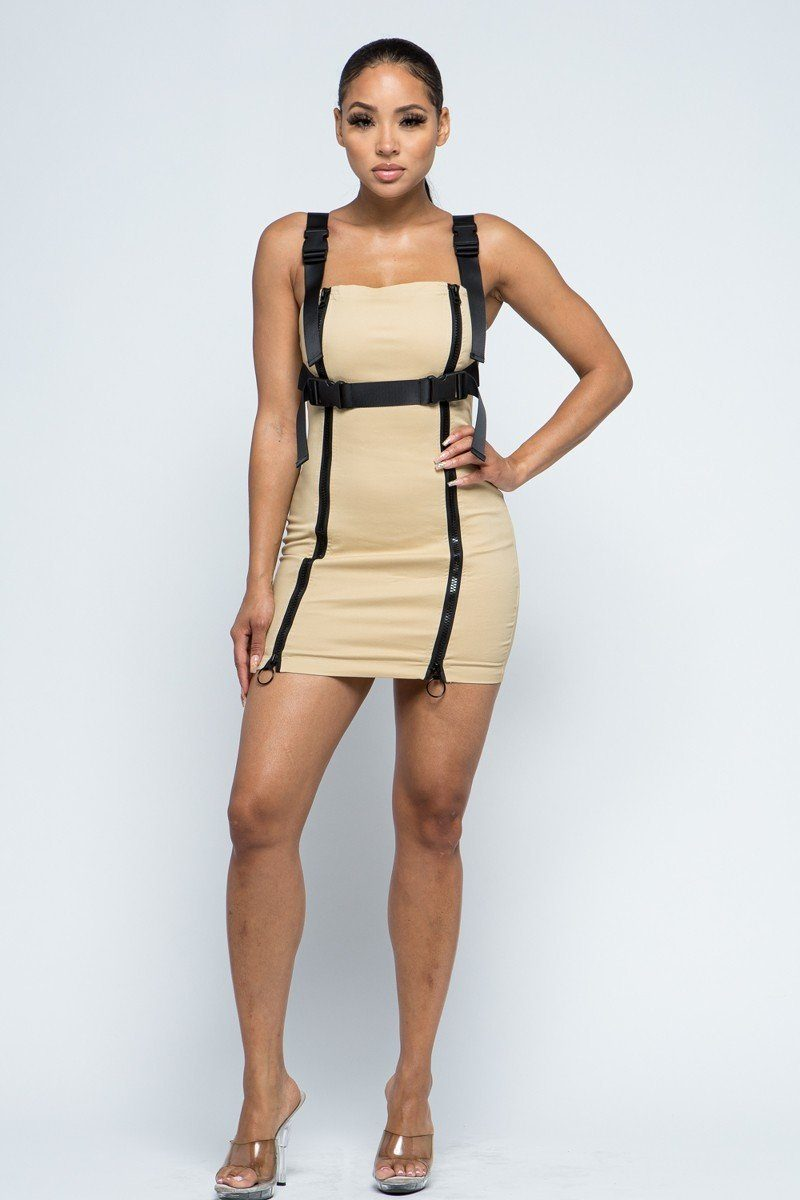 Stretchable Cotton Mini Dress