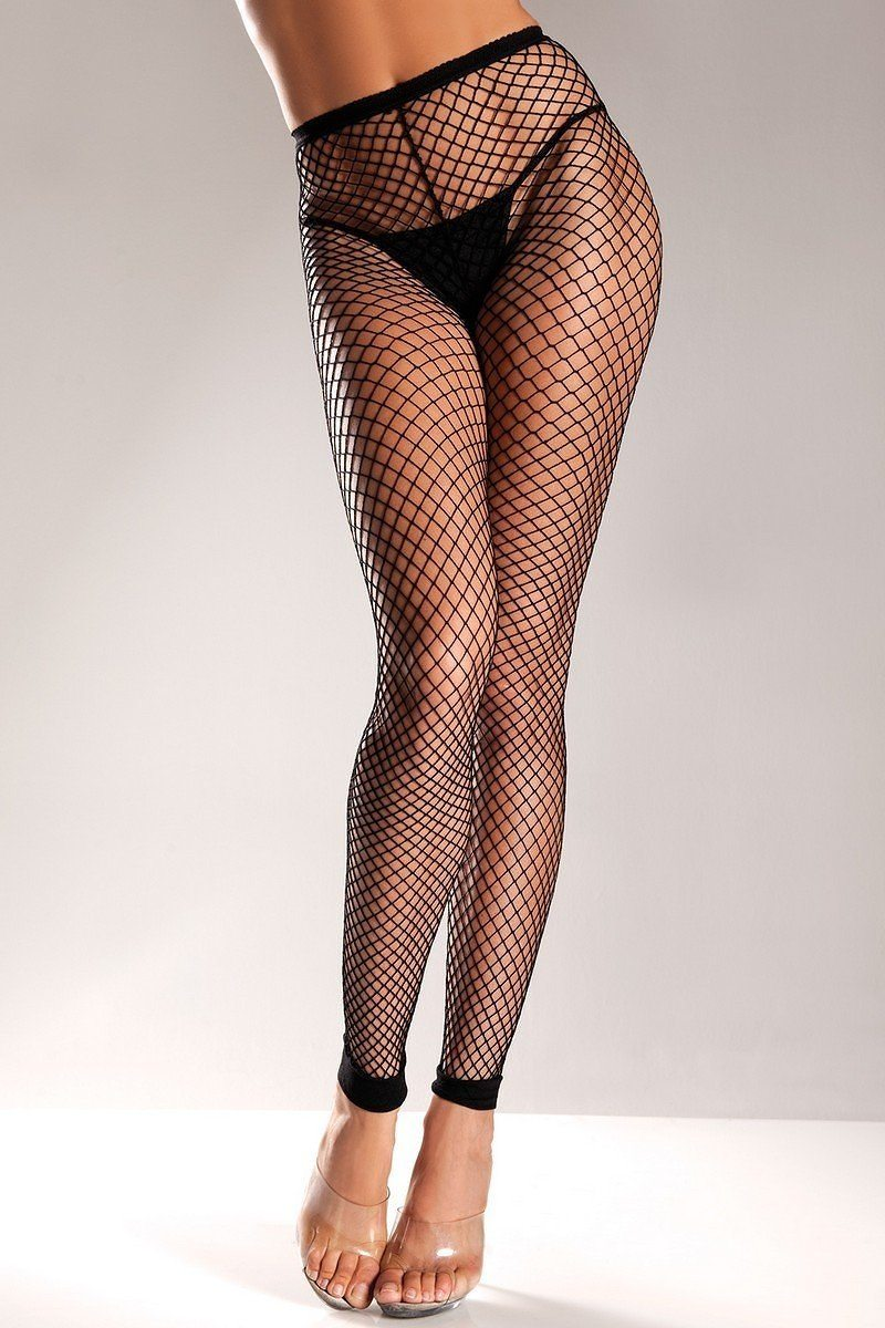 Spandex Net Footless Nylon Tights. Woven