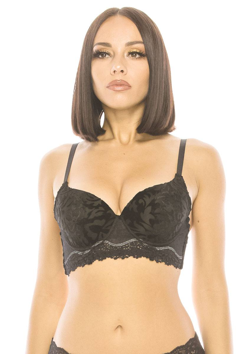 Detailed Push Up Bra