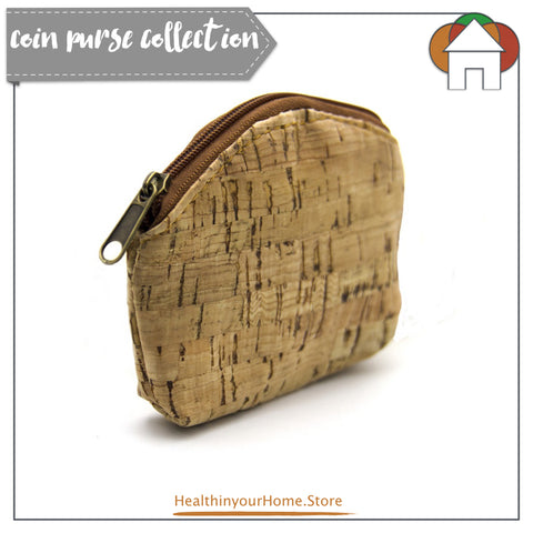 Coin Purse For Women Natural- Vegan & Eco Friendly. Natural Cork