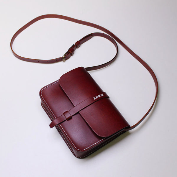 Brown Leather Womens Crossbody Bags Purse Shoulder Bag for Women