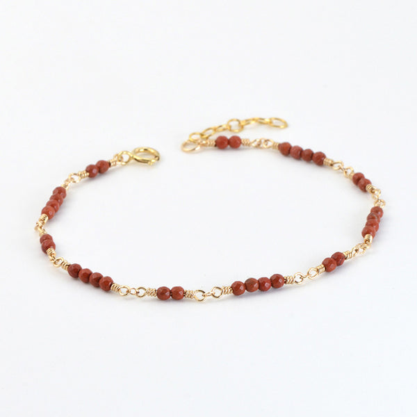 14K Gold Bracelet Agate Gemstone Jewelry Accessories Gift Women