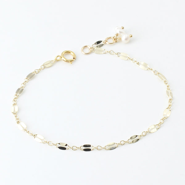 14K Gold Bracelet Pearl Handmade Jewelry Accessories Women gift