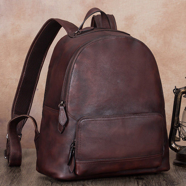 14 Inch Women's Leather Laptop Backpack Purse Book Bags for Women Beautiful