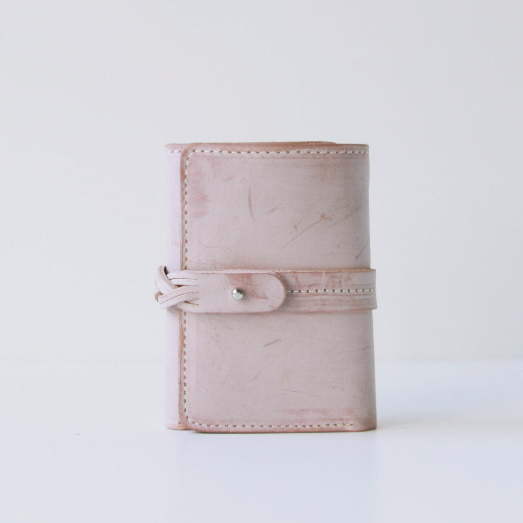Cute Womens Pink Leather Wallet Purse Small Triple Wallets for Women