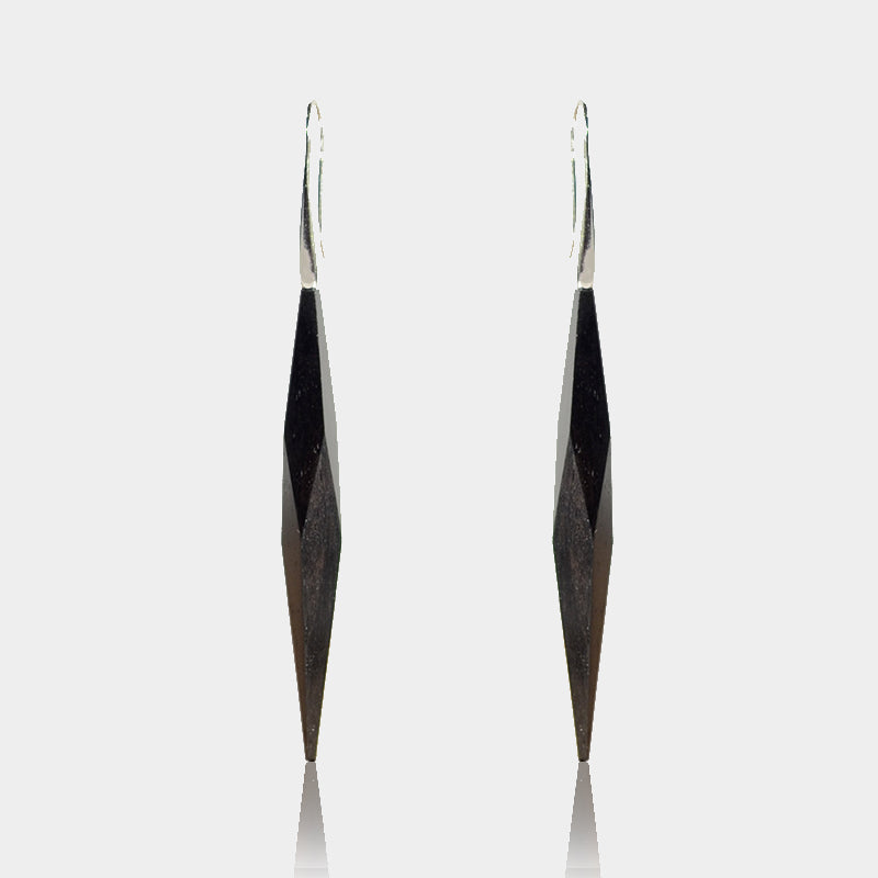 Handmade Wood Sterling Silver Drop Earrings Unique Jewelry Accessories for Women