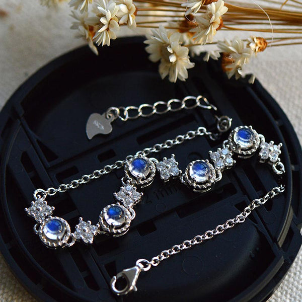 Moonstone Bracelets with Zirconia in Sterling Silver Jewelry Accessories For Women