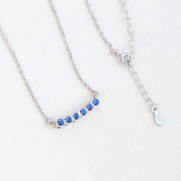 Moonstone Pendant Necklace in White Gold Plated Sterling Silver Gifts For Women