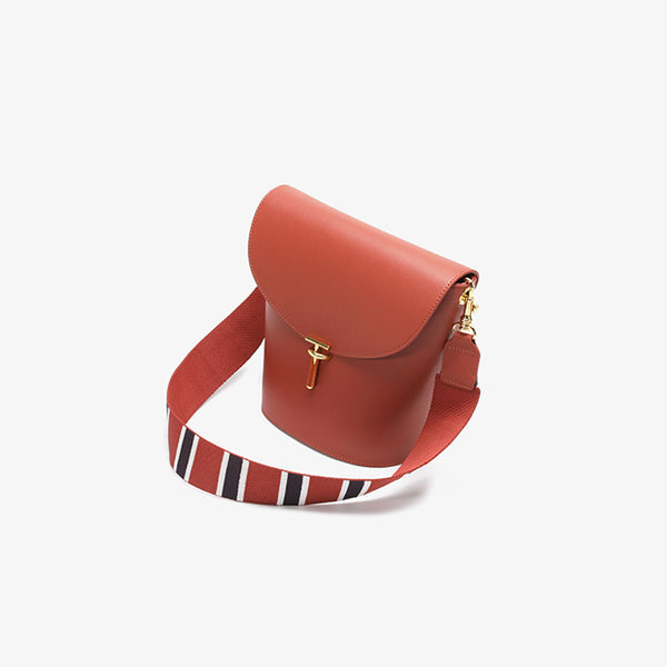 2 Straps Womens Bucket Bag Leather Crossbody Bags Shoulder Bag Purse best