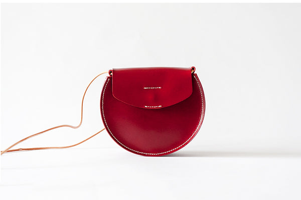 Red Leather Womens Crossbody Bags Leather Shoulder Bag Purses for Women